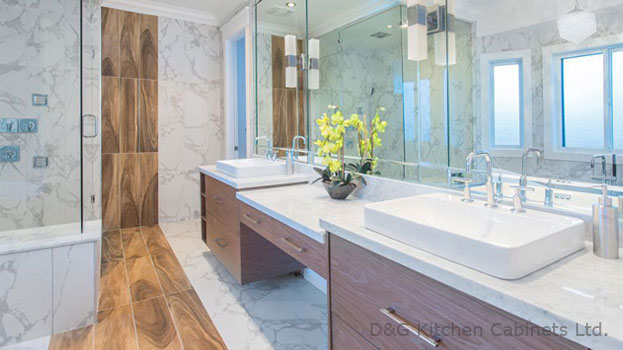 The semi-pedestal sink with glass Vanities