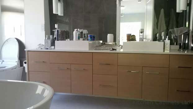 Mounted shelf vanities