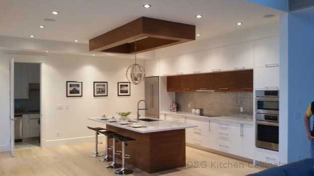 PVC panels in kitchen cabinet